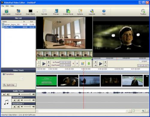 VideoPad Video Editor 2.06 - Descargar 2.06