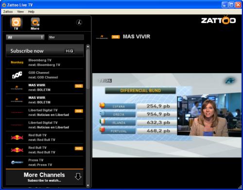 Zattoo 4.0.4 - Descargar 4.0.4