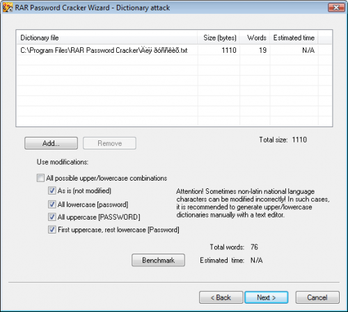 RAR Password Cracker 4.12 - Descargar 4.12