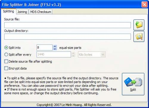 File Splitter and Joiner 2.7