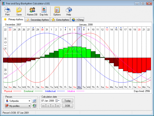 Free and Easy Biorhythm Calculator 2.0 - Descargar 2.0
