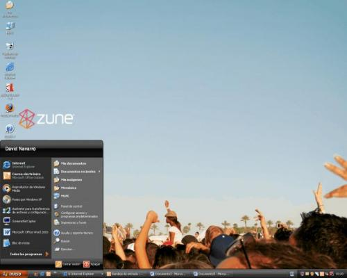 Microsoft Zune Theme for Windows XP 1.0