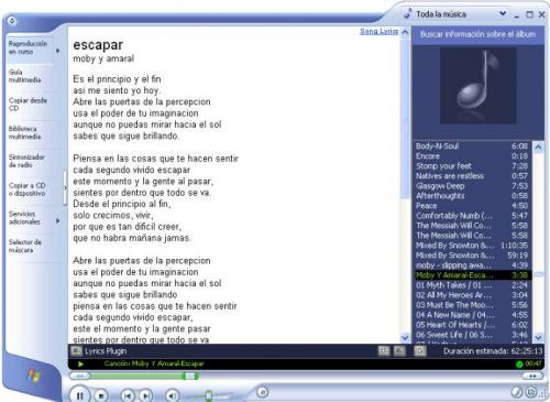 Lyrics Plugin for Windows Media Player - Descargar 0.3