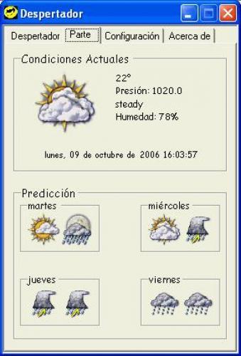 Despertador Meteorologico 1.0