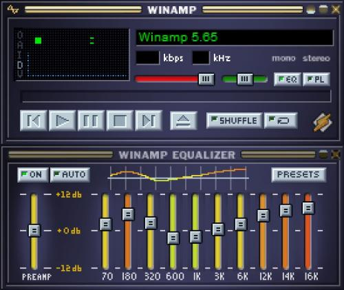 Winamp Media Player 11 Skin 1.0