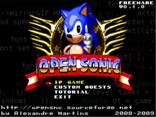 Open Sonic 0.1.1