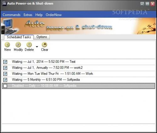 Auto Power-on and Shut-down  2.10