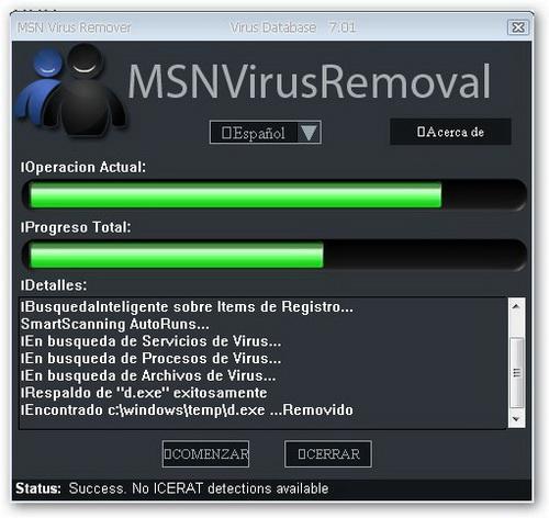 MSN Virus Remover 4.40 - Descargar 4.40