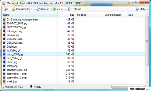 Medieval Bluetooth OBEX File Transfer 1.1.0.0