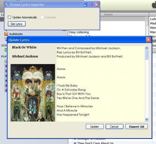 iTunes Lyrics importer 1.1