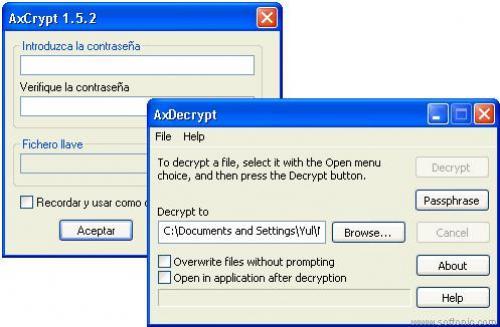 AxCrypt - Descargar 1.7.2614.0. 32b y 64b