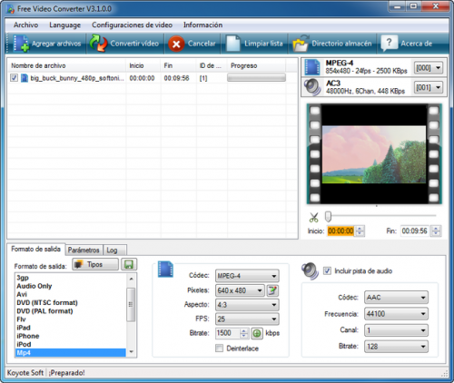 Koyote Free Video Converter - Descargar 3.0