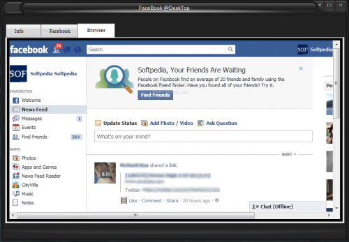 Facebook Desktop 1.0b Final