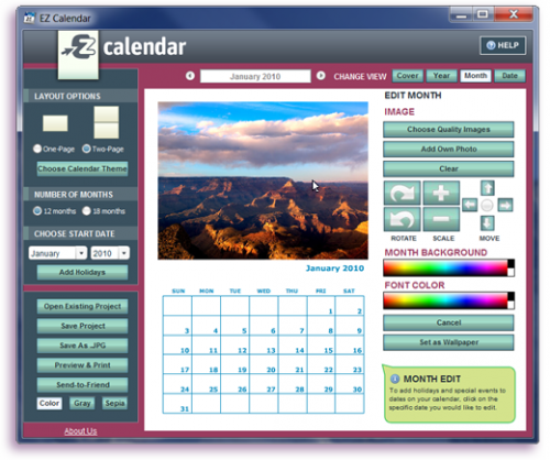 EZ Photo Calendar Creator 5.0