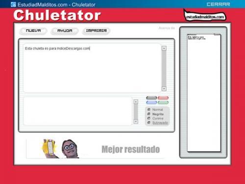 Chuletator  - Descargar 1.0.7345