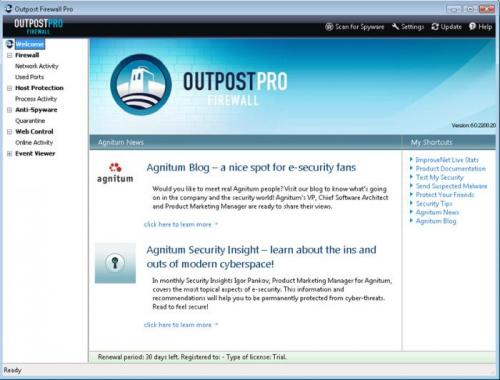 Agnitum Outpost Firewall Free 2009 6.5.2724.381.0687