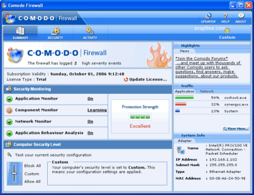 PC Tools Firewall Plus - Descargar 7.0.0.111