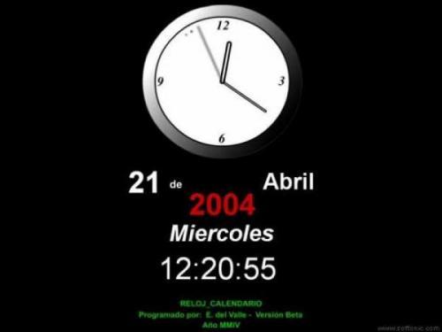 Reloj Calendario 1.0